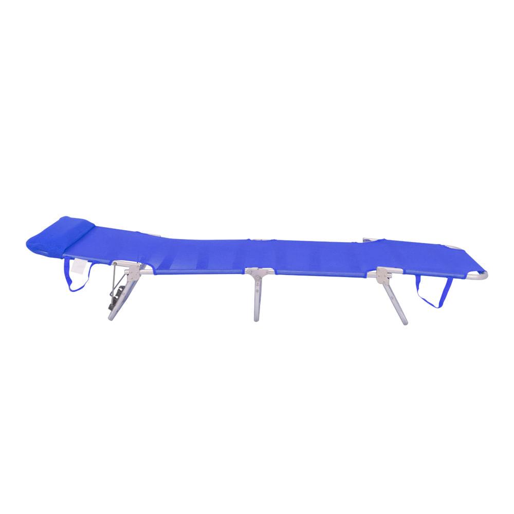 Cadeira Espreguiçadeira - Bel Fix Textilene Aluminio Azul