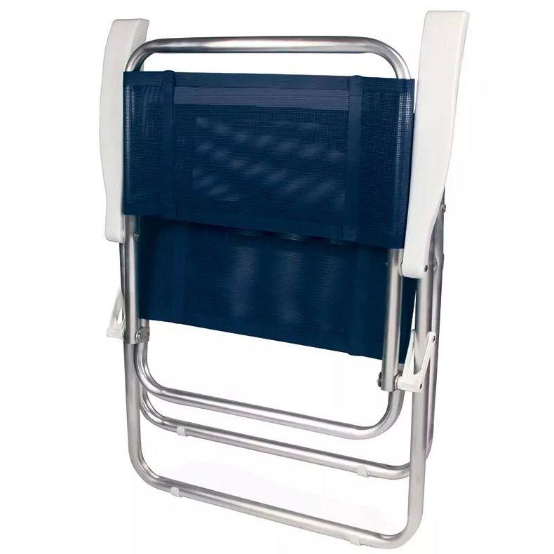 Cadeira de Praia Master Alumínio Tela Sannet Azul
