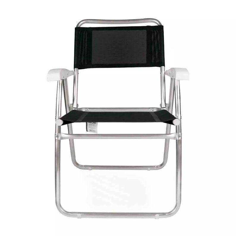 Cadeira de Praia Master Alumínio Tela Sannet Preta