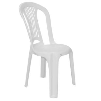 Cadeira Plastica - Plasnew Maxx Branca Sem Braço