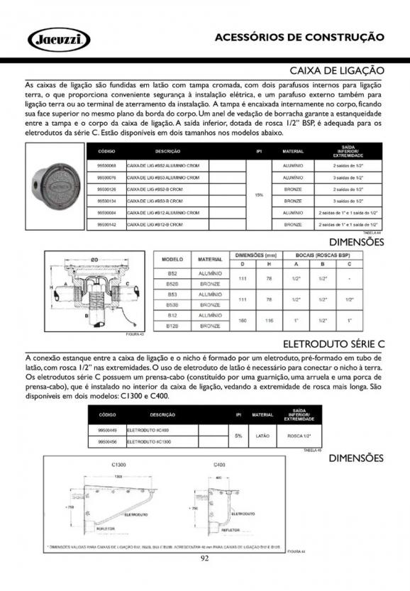 Caixa De Passagem - Jacuzzi Aluminio Cromada #B52