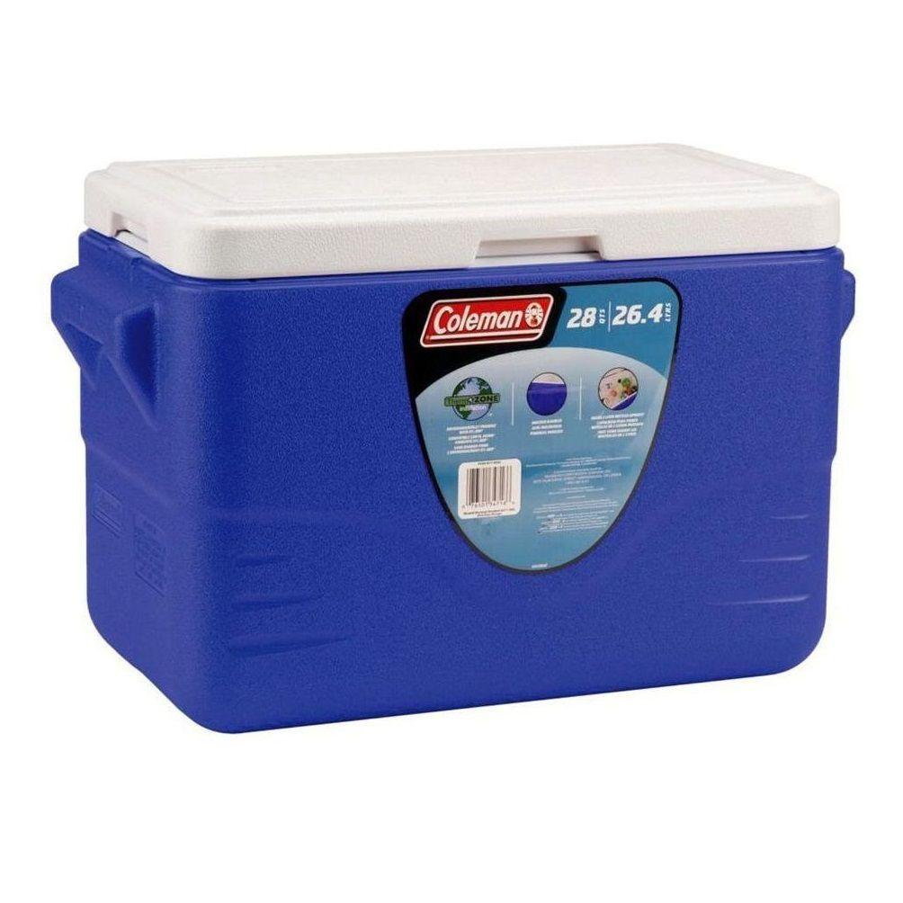 Caixa Térmica 28QT Alça Fixa Azul - Coleman