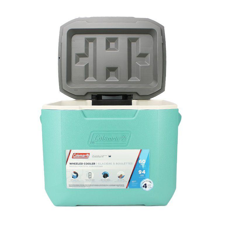 Caixa Térmica 60QT com Rodas Verde Água - Coleman
