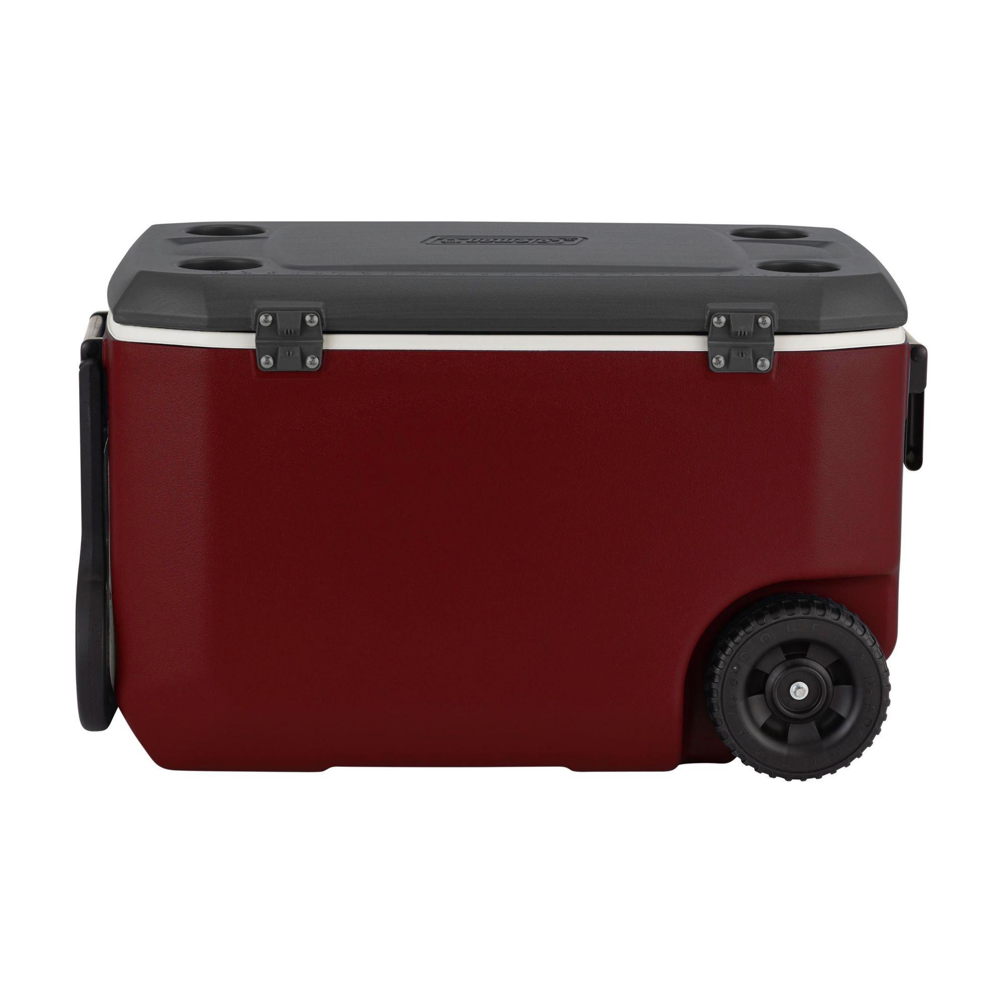 Caixa Térmica 62 Qt Xtreme Vermelha com Rodas - Coleman