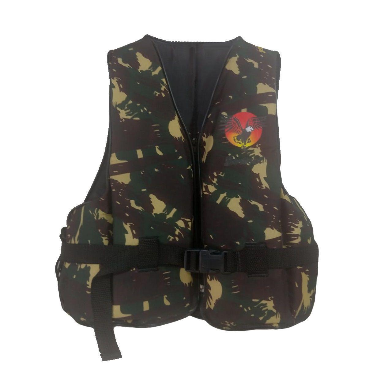 Colete Infantil Flutuante 40 kg Camuflado Bertoni