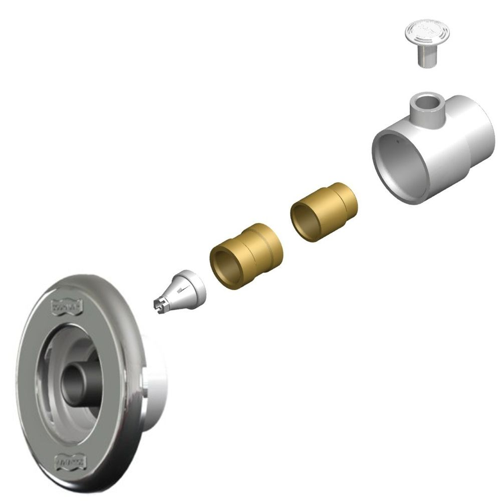 Dispositivo de Hidromassagem ABS/Inox Pratic para Piscina 1 1/2´´ Sodramar
