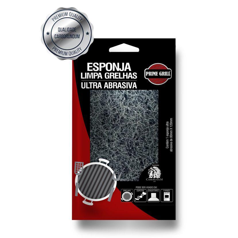 Esponja Ultra Abrasiva Limpa Grelha - Prime Grill