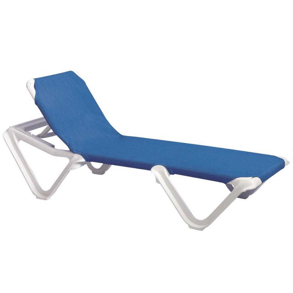 Espreguiçadeira para Piscina Nautica Azul - Grosfillex