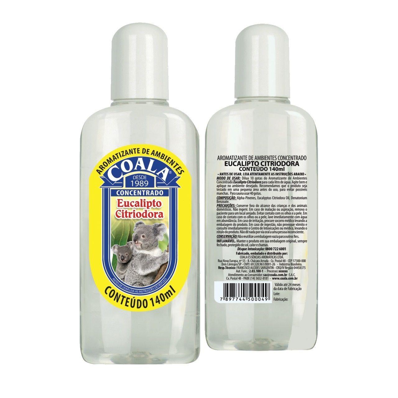 Essência de Eucalipto Citriodora para Sauna Coala 120 ml