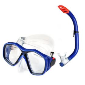Mascara De Mergulho - Starflex Conjunto Snorkel Infantil Azul