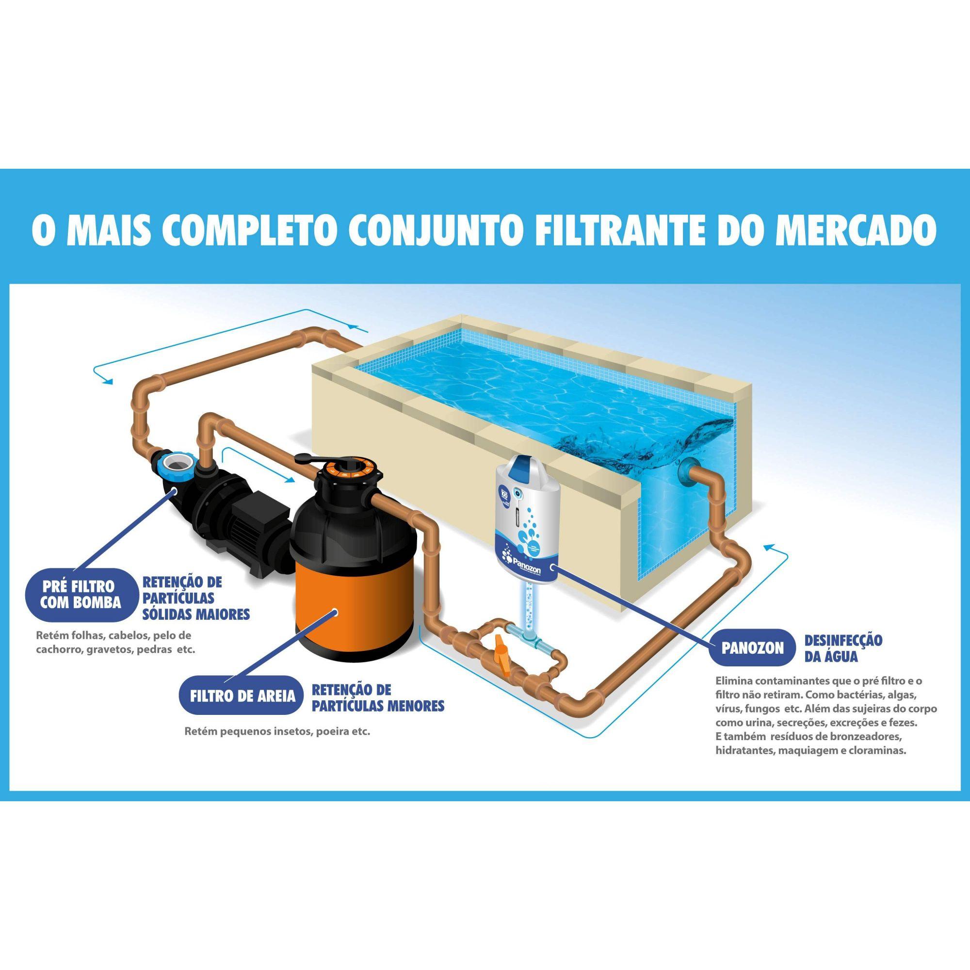 Ozônio Residencial P+150 para Piscina até 150 m³