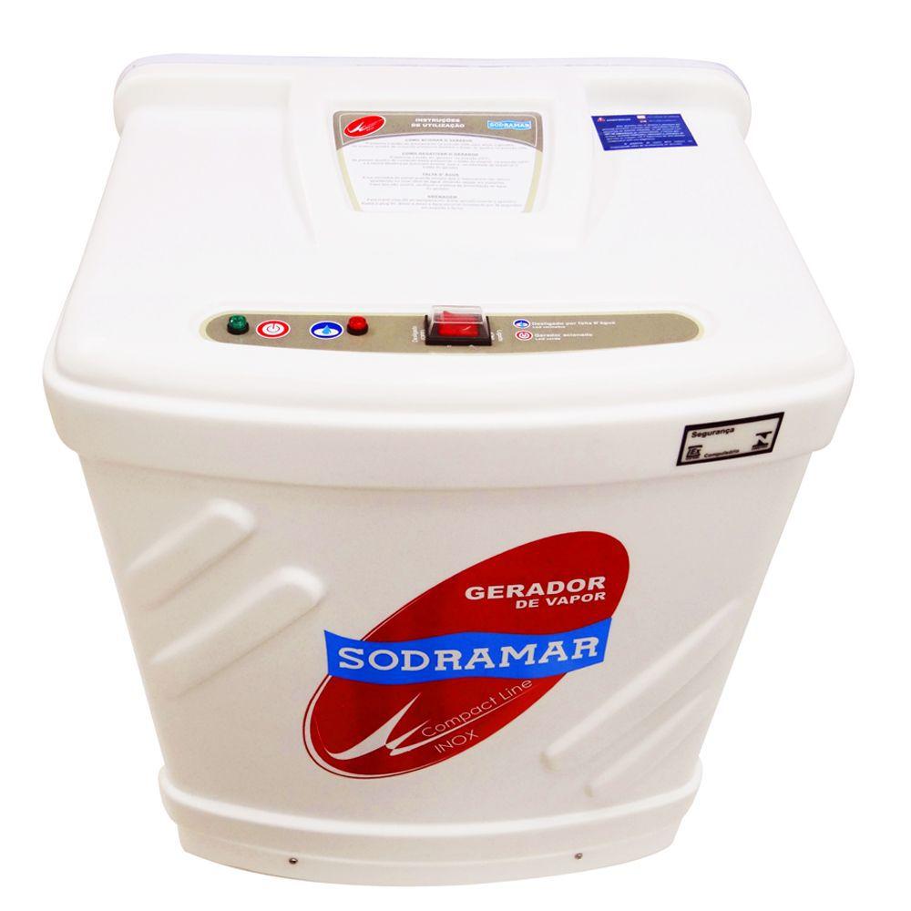 Sauna a Vapor Compact Line 6kw Inox p/ até 6,0m³ Sodramar