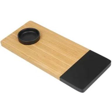 Tabua De Bamboo - Mor 35 X 15 Cm Com Recipiente
