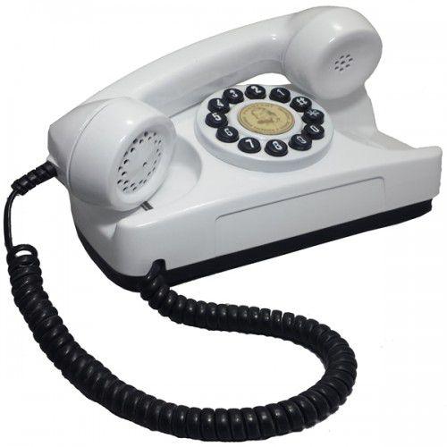 Telefone Antigo Tijolinho Branco