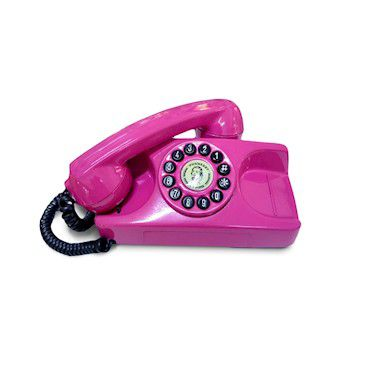 Telefone Antigo Tijolinho Pink