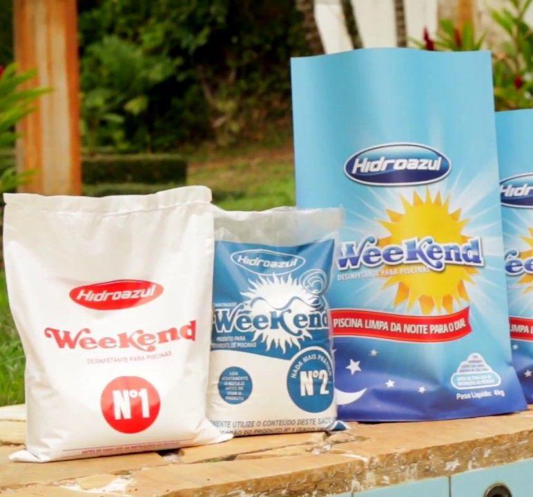 Weekend Desinfetante para Piscinas até 50 mil litros - Hidroazul