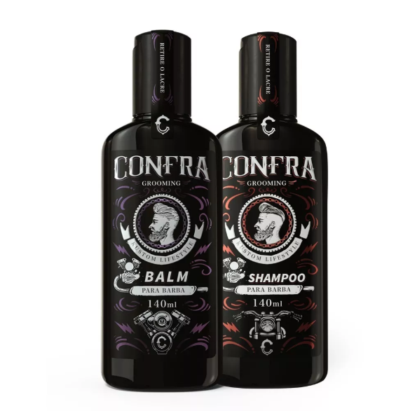 Kit Barba II - Shampoo Barba 140ml + Balm Hidratante 140ml