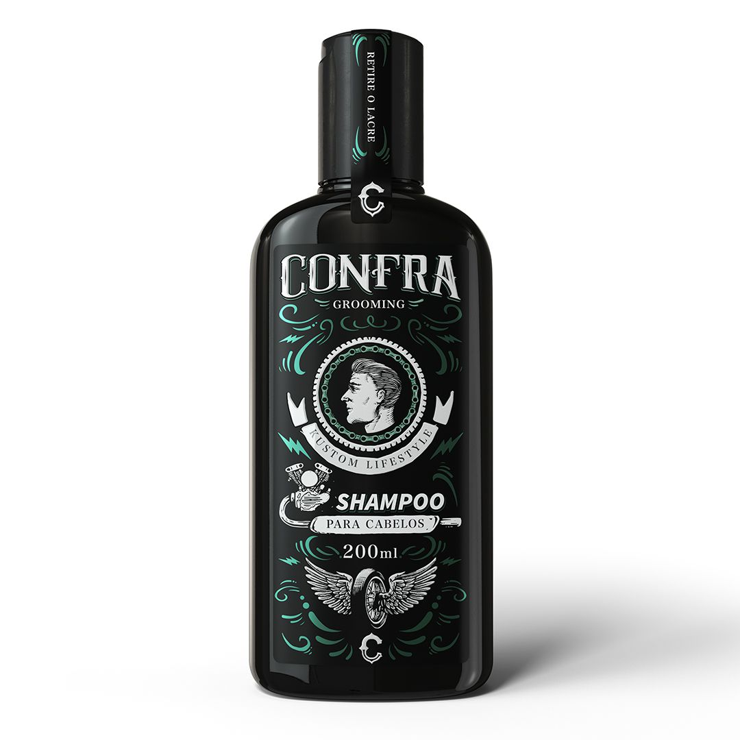 Kit Cabelo Shampoo + 2 Pomadas (Efeito Seco Matte+Efeito Molhado Firm)
