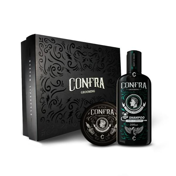 Kit Executivo - Pomada Efeito Seco + Shampoo para Cabelo + Caixa Presente