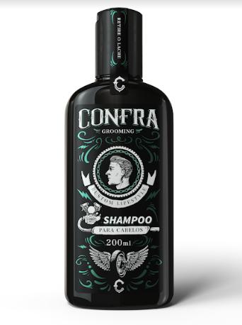 Shampoo Barba + Pomada Seca + Shampoo Cabelo