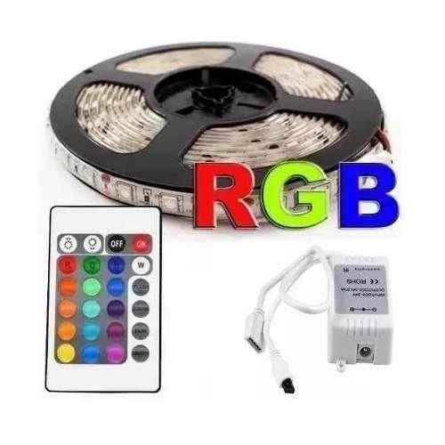 Kit Fita Rgb 5050 14,ww/m Ip65 c/controle 5m