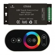 Controladora Rgb Touch c/controle remoto 12v24v 432watts