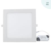 Luminária Painel embutir Led 18w 6500k luz Branca bi-volt