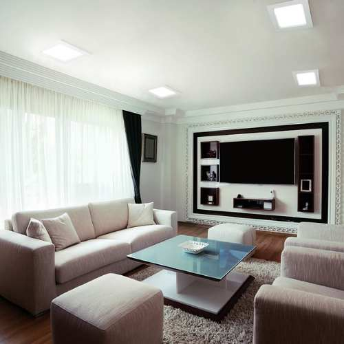Luminária Painel embutir Quad Led 24w  6500K Luz Branca bi-volt