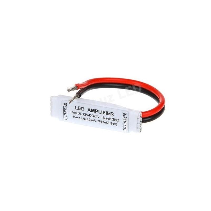 Emenda Amplificador RGB 4 vias p/led 5050/3528 12v