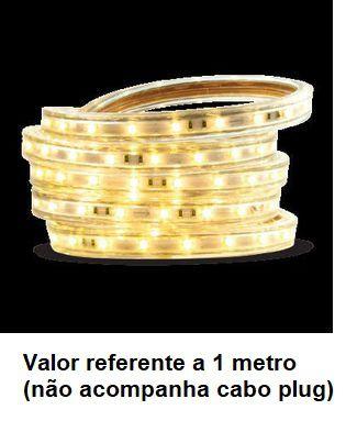 Fita 110V Led 14.4w/metro Ip67 13mm Cor 30000k Luz amarela