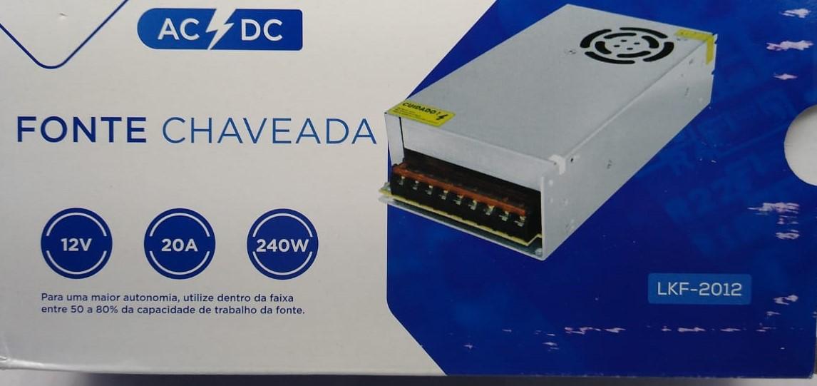 Fonte 20 Ampere C/cooler 12 Volt 240 Watts Bi-volt