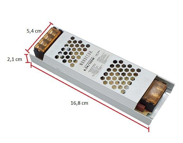 Fonte Driver Slim 120w 10 amper  P/ Fita led