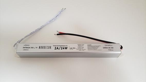 Driver  Slim P/perfil led 24w 12v bi volt