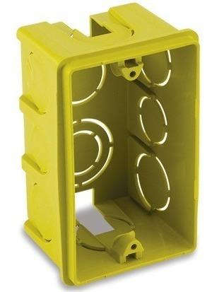 Kit 100 Pç Caixa de Luz 2x4 embutir Amarela