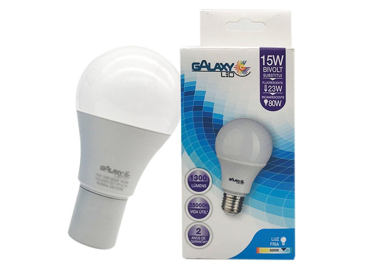 Lâmpada Bulbo Led 15 watts 6500k  Luz Branca 110V220V