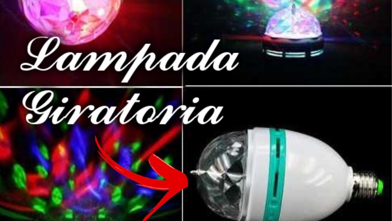 Lampada Giratória Rgb P/ Festas Bivolt + Adaptado
