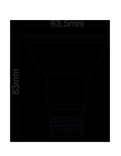 Lâmpada Par-20 Led  7w Led 580 lumens 2700k bivolt