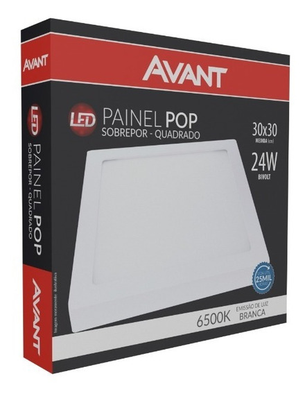 Luminaria Plafon Sobrepor Led 24w 30cm 6500k Luz Branca bi-volt