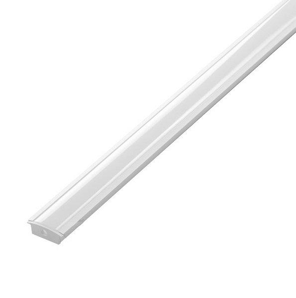 Perfil embutir p/fita led 27mmx15mm c/difusor alum Branco 2metros