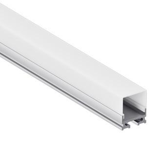 Perfil Sobrepor aluminio 14mmx7mm  c/difusor p/fita led  barra 2 metros