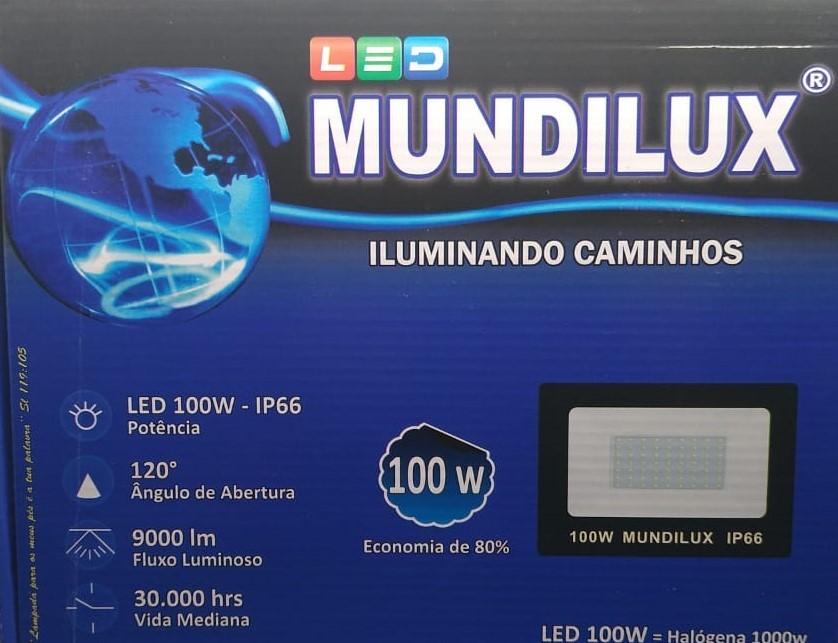 Refletor Led 100w  IP66 9000 Lumens 6500K bi-volt