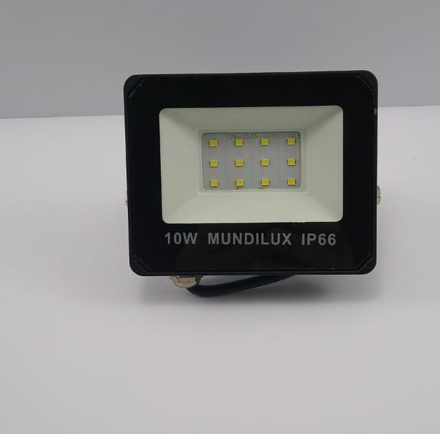 Refletor Led 10w  Mult-Led  IP66 6500k bivot
