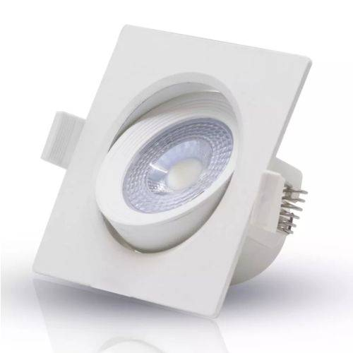 Spot 5w led Quadrado 6000k Luz Branca bi-volt