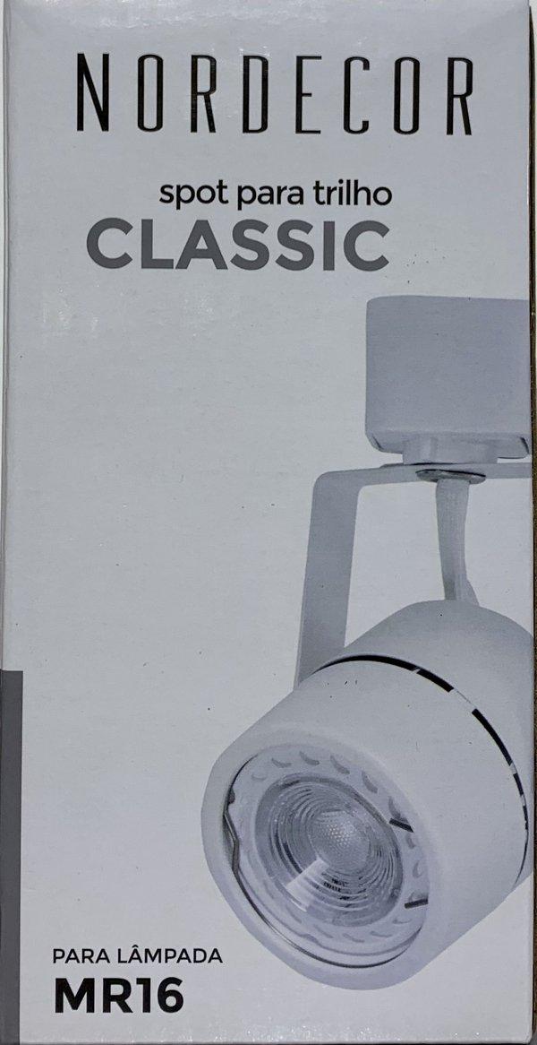 Spot  classic P/ trilho eletrificado dicroica