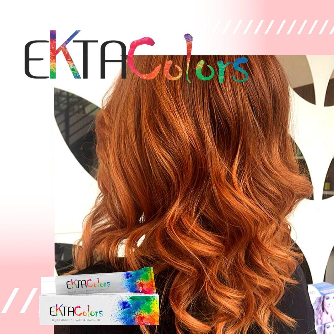 Coloração Ekta Colors - 7.4 LOURO MÉDIO COBRE
