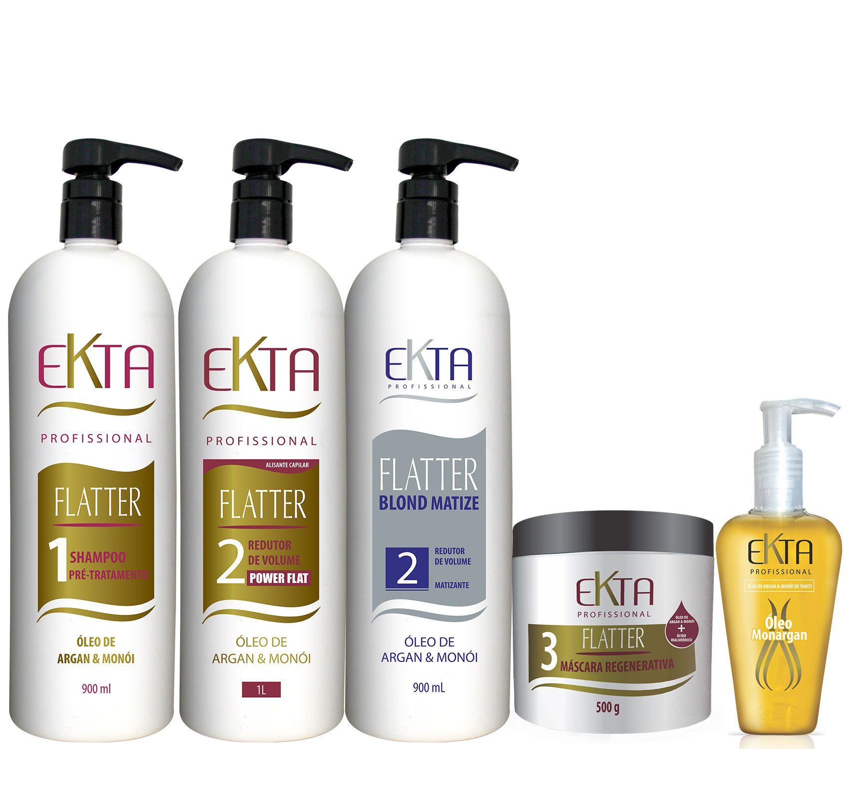 Shampoo Pré-tratamento Flatter 1 - Óleo de Monói & Argan (900mL)