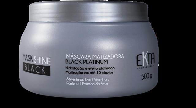 Máscara Mask Shine BLACK Matizadora Efeito Platinum (500g)