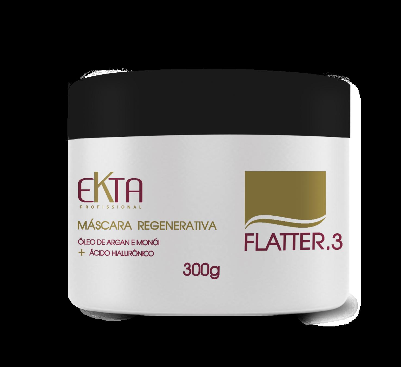 Máscara Regenerativa Flatter 3 - Óleo de Monói & Argan + Ácido Hialurônico (300g)