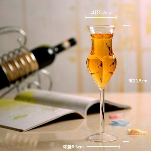 Taça Vinho Sexy - Corpo Feminino - Bumbum e Seios