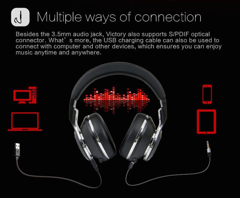 Fone Bluedio Victory (V) Bluetooth 100% Original 12 Driver - Frete Grátis